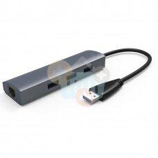 Adapteris USB -> RJ-45 + 3X USB 3.0 +++ TOP Mobilumas