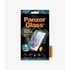 Apsauginis stiklas Samsung Galaxy S21+ (Juodas) PanzerGlass Premium +++ TOP Saugumas
