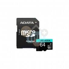 Atminties kortelė ADATA Premier Pro microSDXC 64GB UHS-I U3 V30S