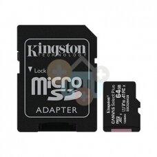 Atminties kortelė Kingston microSDXC 64GB UHS-I