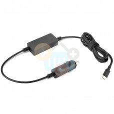 Nešiojamo kompiuterio automobilinis įkroviklis Lenovo 65W USB-C +++ TOP Kokybė