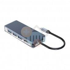 USB-C šakotuvas ORICO 7 in 1: HDMI, USB 3.0, TF&SD, PD +++ TOP Mobilumas