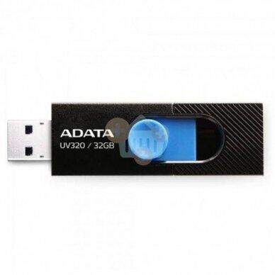 USB raktas Adata 32 GB, USB 3.2 UV320 Juodas +++ TOP balansas