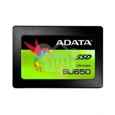 "Vidinis kietasis diskas ADATA ULTIMATE SU650 2.5"" SSD 240GB SATA III  450 MB/s 520Mb/s"