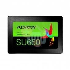 """Vidinis kietasis diskas ADATA ULTIMATE SU650 3D NAND 2.5"""" SSD 480GB SATA III  450 MB/s 520Mb/s"""