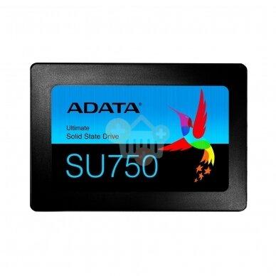 "Vidinis kietasis diskas ADATA ULTIMATE SU750 2.5"" SSD 512GB SATA III  550 MB/s 520Mb/s"